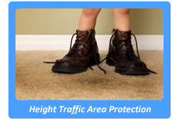 height traffic area protection